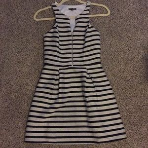 Express Striped Zip Up Dress 2